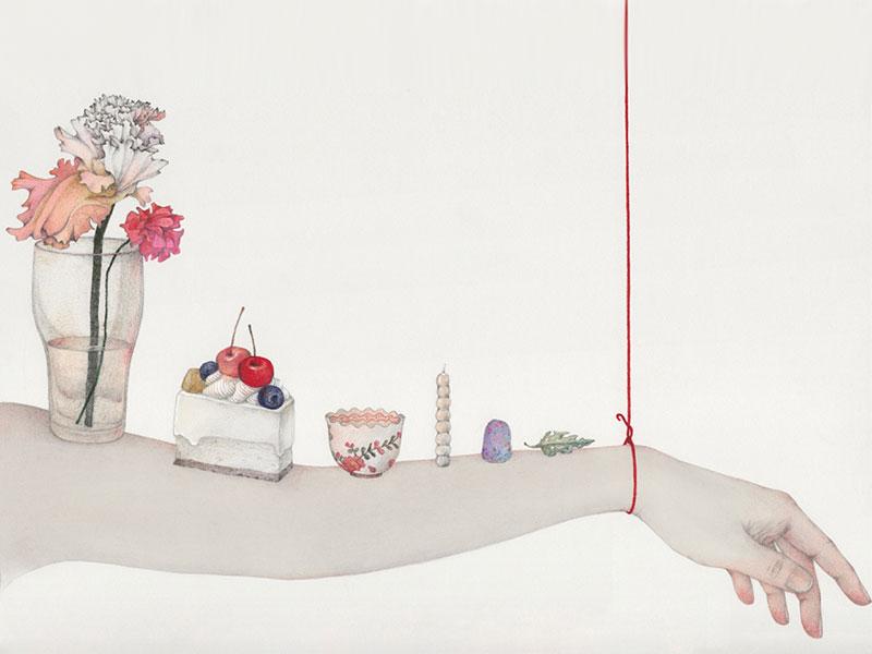 Vicki Ling vie fil, Vicki Ling Illustre la Fragilité de la Vie Avec un Fil Rouge