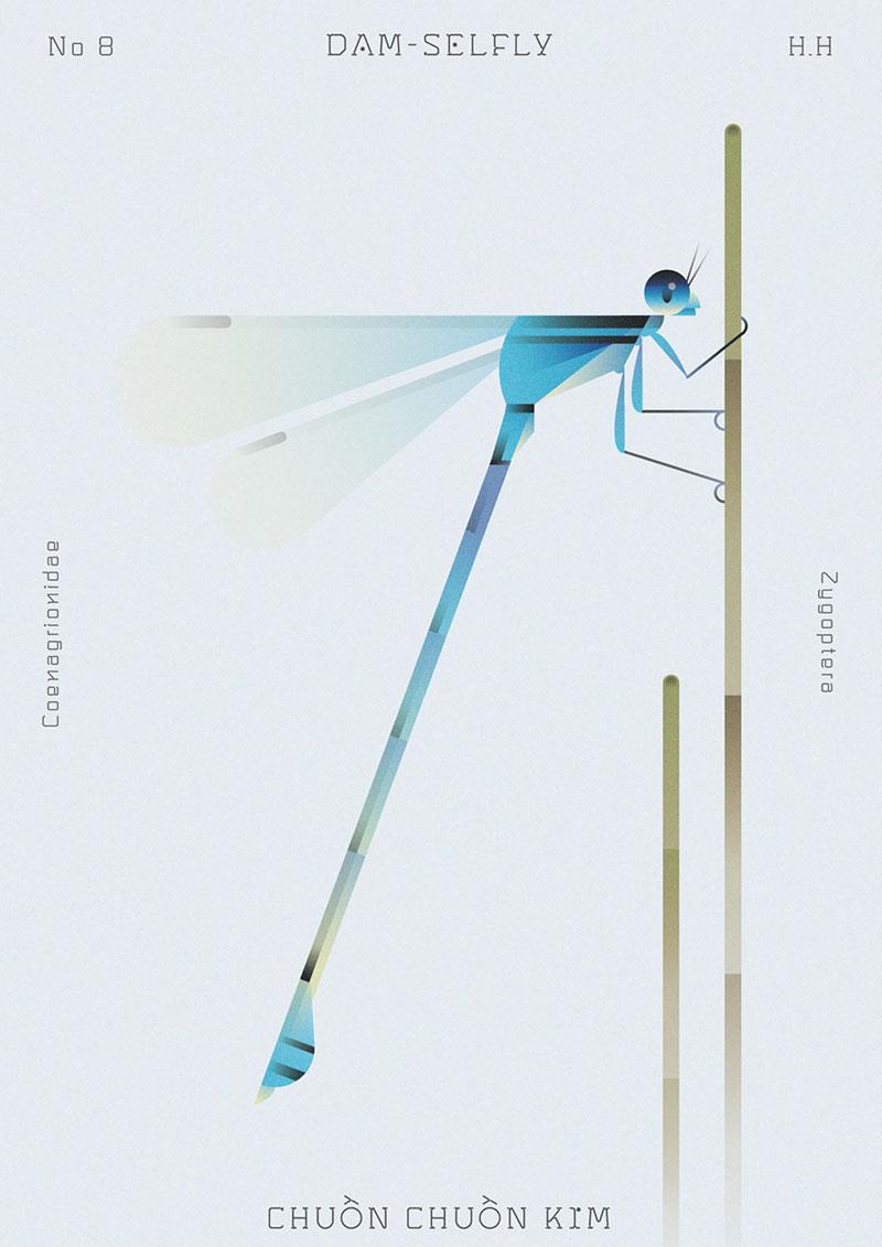 Hoang Hoang, Insectes Géométriques par l'Illustrateur Hoang Hoang