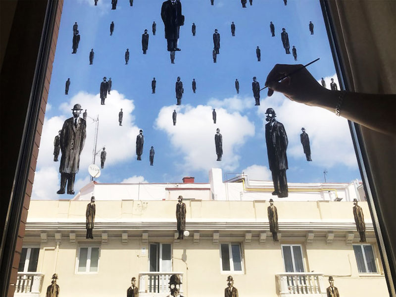 Pejac StayArtHome, Pejac Invite à Transformer ses Fenêtres en Art Interactif avec #StayArtHome