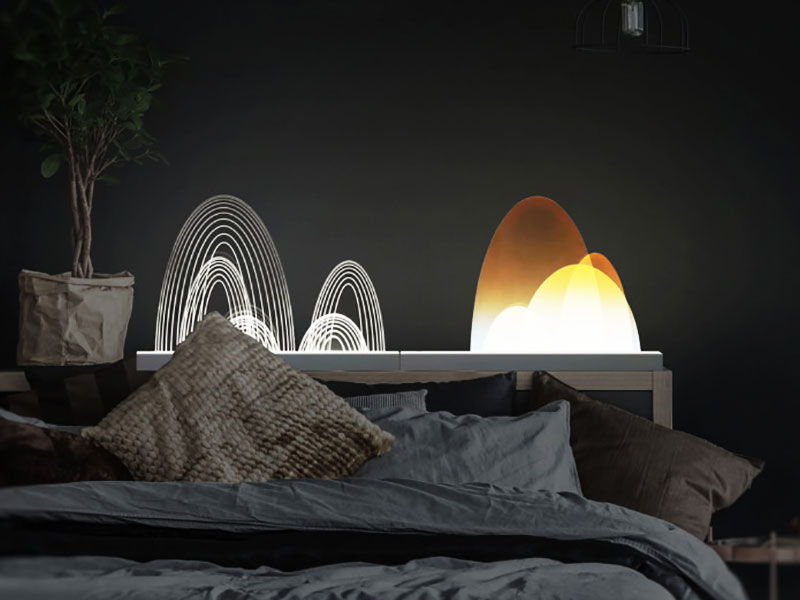 Guilin LampScape, Guilin LampScape, Sculptural Purificateur d'Air à Lampe LED