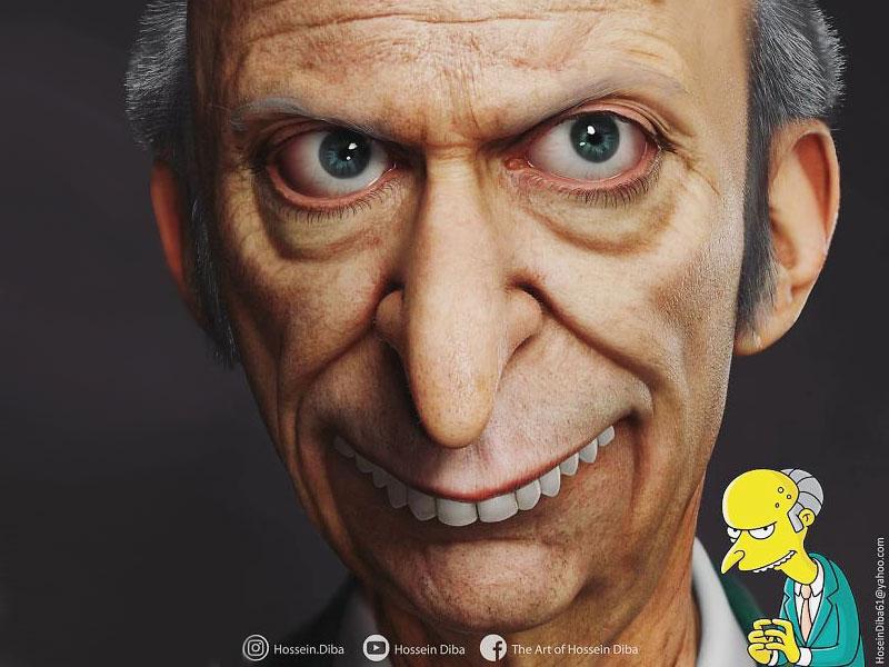 Simpsons 3D, Hyper Réaliste Modélisation des Simpsons en 3D (video)
