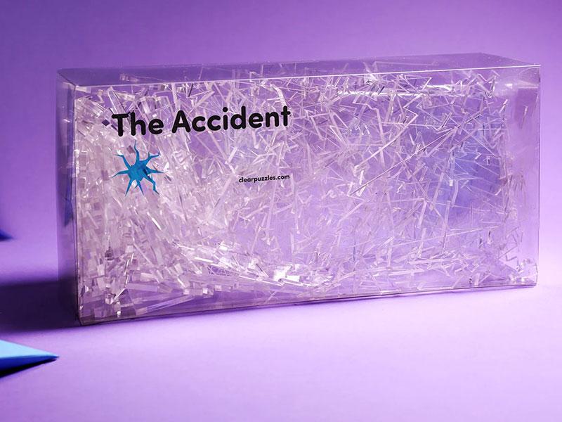 Puzzle Accident, The Accident, le Puzzle Fou au Design de Vitre Cassée