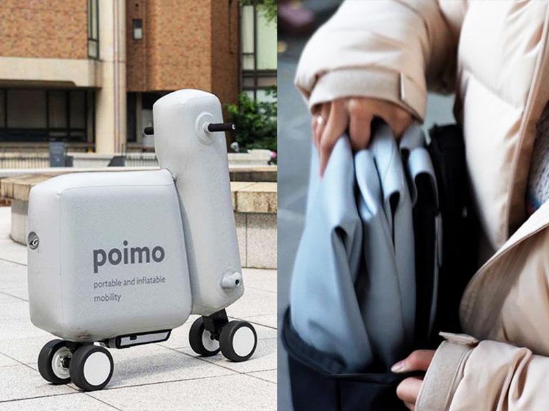 Poimo, Poimo, Scooter Electrique Gonflable et Passe Partout (video)