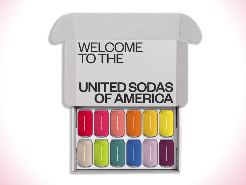 United Sodas of America, United Sodas of America, Boisson Gazeuse Naturelle aux 12 Couleurs