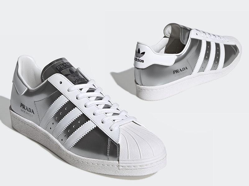 Baskets Prada Adidas Superstar, Nouvelle Collection 2020 ...