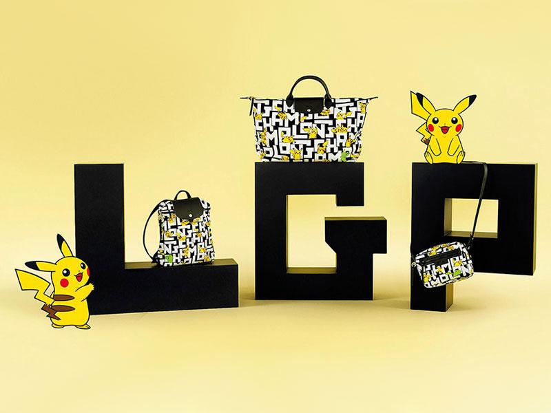 Pokémon Pikachu x Longchamp Sacs Pliage Chics et Ludiques ...