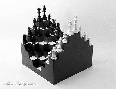 12519a92c17e67e4f804a3d46a069933 Ji Lee 3D Chess Board : Spectaculaire Jeu dEchec