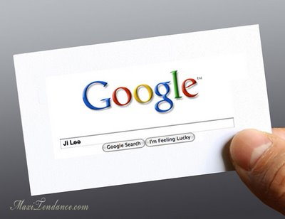Google Me By Ji Lee Carte De Visite Minimaliste