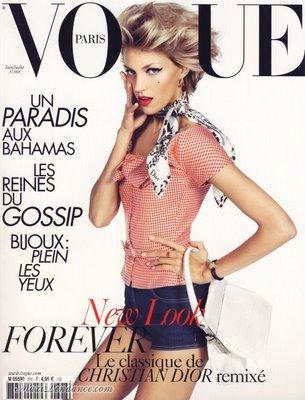 , Anja Rubik en Couverture de Vogue Paris Juin juillet 2009