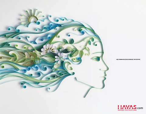 , Yulia Brodskaya : Illustrations Fleuries en Papier