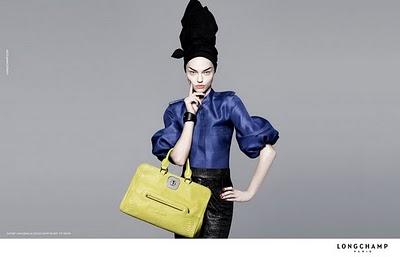 , Longchamp Printemps Ete 2010 : Campagne avec Sasha Pivovarova
