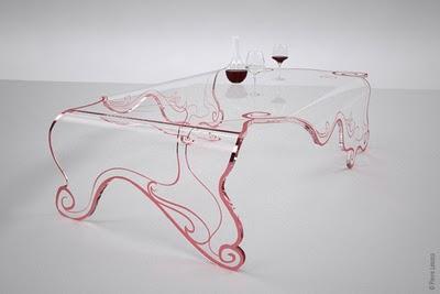 , Table Basse Transparente par Pierre Lescop