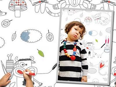 Deco Enfant : Papier Peint à Colorier, Deco Enfant : Papier Peint à Colorier