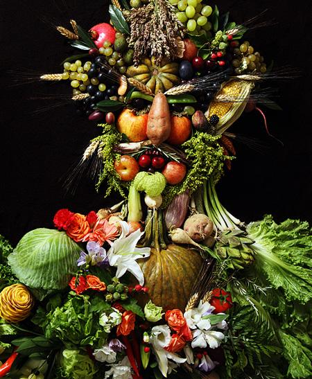Klaus Enrique Gerdes, Portraits en Fruits et Légumes de Klaus Enrique Gerdes