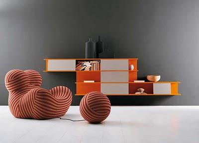 Italien Design b b italia une bibliothèque design aux lignes modernes maxitendance