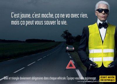 , Karl Lagerfeld Roule Pour La Securite Routiere
