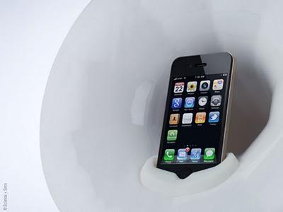 Phonofone III : Amplificateur en Ceramique pour iPhone