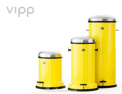 Poubelle Vipp vipp yellow cab : poubelles design en edition limitee | maxitendance