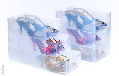 boîtes tiroirs transparentes pour chaussures