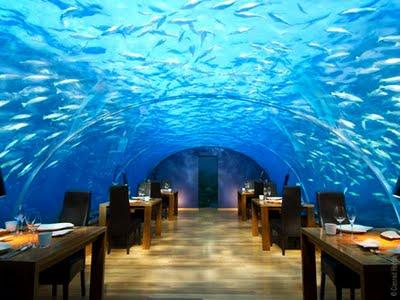 , Ithaa Underwater : Restaurant Sous La Mer