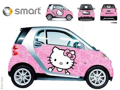 , Smart Hello Kitty : Voiture Rose Girly