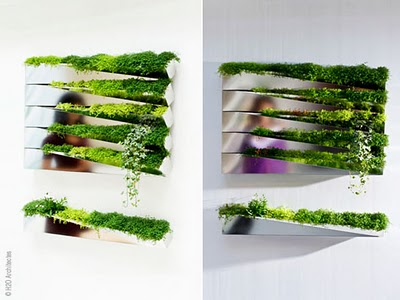 , Mobilier Vegetal Mural par H2O Architectes